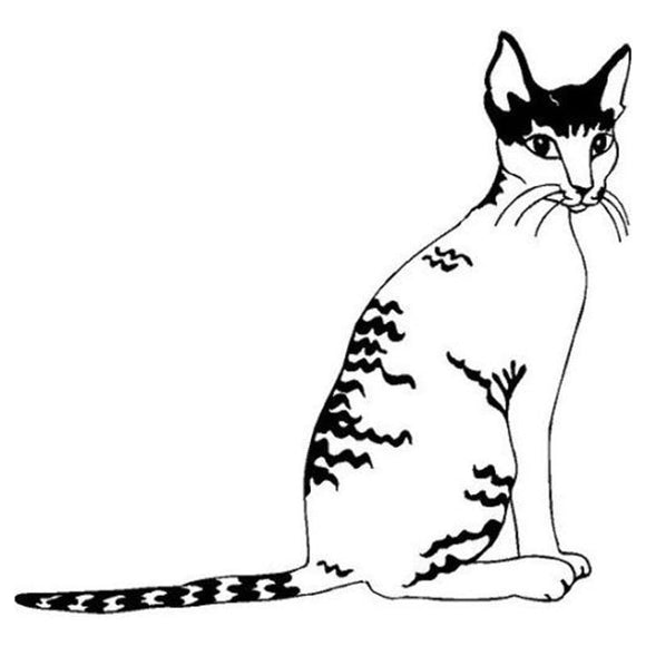 11.9*11.4CM Cornish Rex Cat Vinyl Decal Cute Car Stickers Car Styling Motorcycle Accessories Black/Silver S1-1427