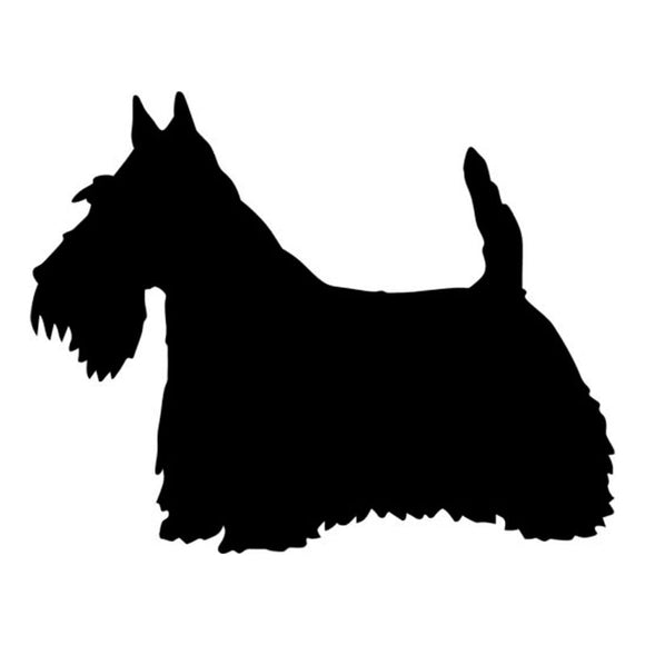 11.9*9.5CM Scottish Terrier Dog Vinyl Decal Car Window Stickers Motorcycle Car Styling Decoration Black/Silver S1-0375