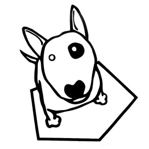 12*13.9CM Bull Terrier Dog Car Stickers Waterproof Vinyl Decal Car Styling Truck Decoration Black/Silver S1-0762