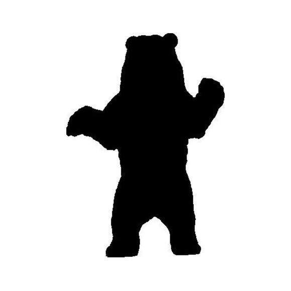 12.4*17.5CM Cool Standing Grizzly Bear Car Styling Bumper Decals Stylish Vinyl Car Stickers Black/Silver S1-2695