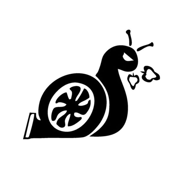 12.5*10CM SNAIL Improve Turbine Car Sticker Decals Fun Snail Decoration Motorcycle Car Stickers And Decals C2-0019