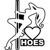 12.5CM*15.2CM Love Hoes Stripper Girl JDM Vinyl Decal Sticker Car Sticker Car Motorcycle Accessories Black Sliver C8-0852