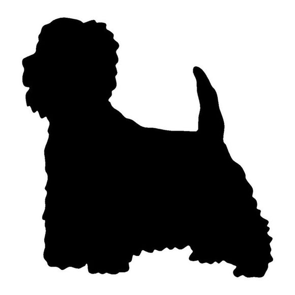 12.7*12.2CM West Highland White Terrier Dog Vinyl Decal Cute Car Stickers Car Styling Truck Decoration Black/Silver S1-1149