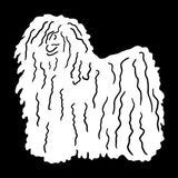 12.7*12.7CM Hungarian Puli Dog Car Stickers Personality Vinyl Decal Car Styling Bumper Accessories Black/Silver S1-0814