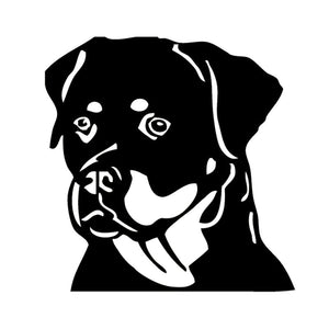 12.7*12.7CM Rottweiler Dog Car Stickers Cute Fashion Decals Car Styling Accessories Black/Silver S1-0276
