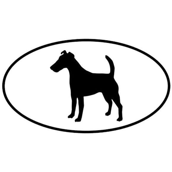 12.7*7.1CM Fox Terrier Smooth Dog Car Stickers Reflective Vinyl Decal Car Styling Truck Accessories Black/Silver S1-0665