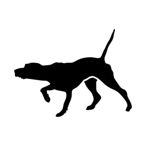 12.7*9.5CM Pointer Dog Vinyl Decal Funny Car Stickers Motorcycle Car Styling Decoration Black/Silver S1-0445