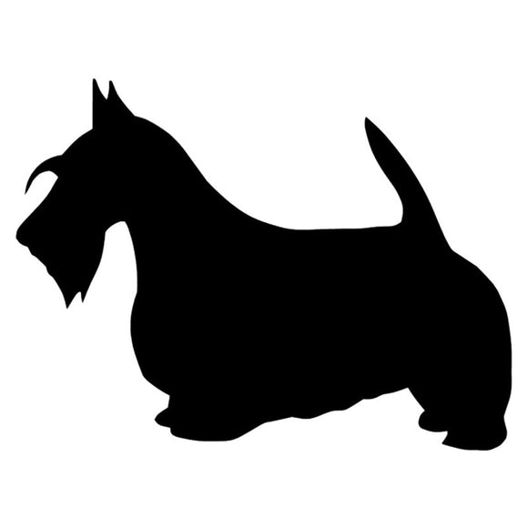 12.7*9.5CM Scotland Terrier Dog Vinyl Decal Lovely Car Stickers Car Styling Motorcycle Bumper Accessories Black/Silver S1-1082