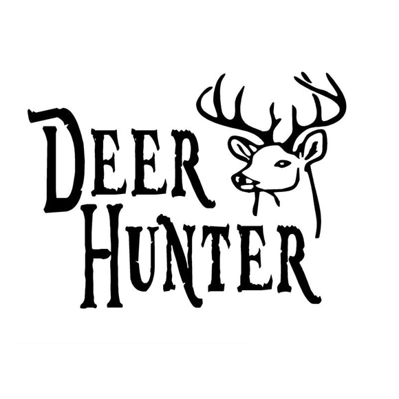 12.7CM*9.3CM Deer Hunter Decal Buck Head Hunting Car Sticker Car Stylings And Decals Black Sliver C8-0495