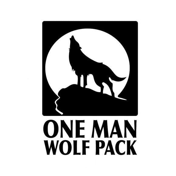 12.8CM*17.8CM One Man Wolf Pack - Vinyl Decal Funny Car Stickers Motorcycle Accessories Black/Sliver C8-1389