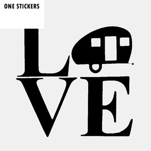 15CM*15CM Funny LOVE CAMPER Waterproof Car Window Sticker Decal Black Silver Vinyl C11-1664