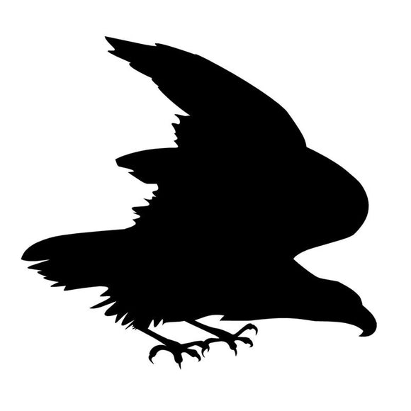 13*12CM Eagle Falcon Hawk Car Sticker Fun Motorcycle Decorative Car Accessories Black Silver C2-0407