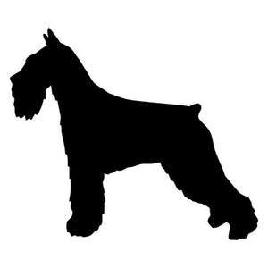 13.2*11.2CM Standard Schnauzer Dog Vinyl Decal Funny Car Stickers Truck Car Styling Decoration Black/Silver S1-0400