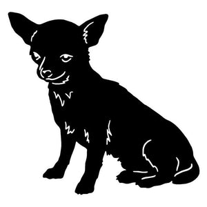 13.2*12.7CM Chihuahua Dog Car Stickers Endearing Vinyl Decal Car Styling Truck Decoration Black/Silver S1-0953