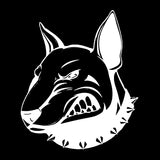 13.3*15.7CM Angry Bullterrier Dog Car Stickers Creative Vinyl Decal Car Styling Bumper Accessories Black/Silver S1-0828