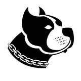 13.5*12.5CM Pitbull Dog Vinyl Decal Fashion Waterproof Car Stickers Car Styling Bumper Decoration Black/Silver S1-0524