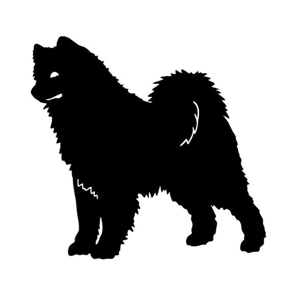 13.5*12.7CM Samoyed Dog Car Stickers Reflective Vinyl Decal Car Styling Truck Decoration Black/Silver S1-0792