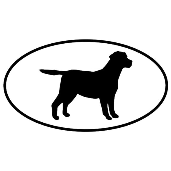 13.5*7.5CM Labrador Retriever Dog Car Stickers Silhouette Vinyl Decal Car Styling Truck Decoration Black/Silver S1-0676