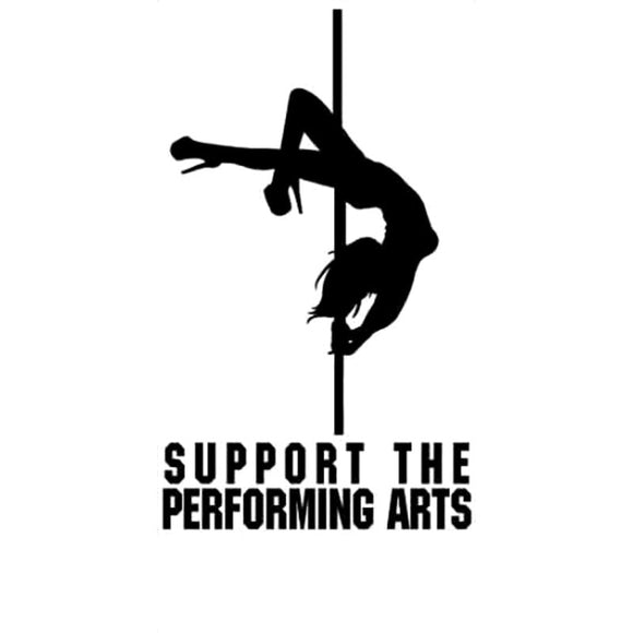 13.6CM*22.9CM Support The Performing Arts Funny Dancer Car Sticker Decoration And Decals Accessories Black/Sliver C8-0688