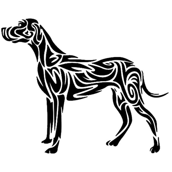 13.7*11CM Tribal Dog Car Stickers Art Pattern Vinyl Decal Car Styling Bumper Accessories Black/Silver S1-0885