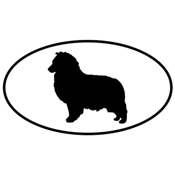 13*7.2CM Shetland Sheepdog Dog Car Stickers Personality Vinyl Decal Car Styling Truck Decoration Black/Silver S1-0678