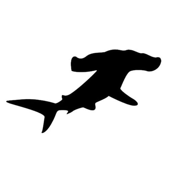 13*7CM Car Sticker Hammerhead SHARK Ocean Motorcycles Personality Reflective Car Stickers And Decals CT-794