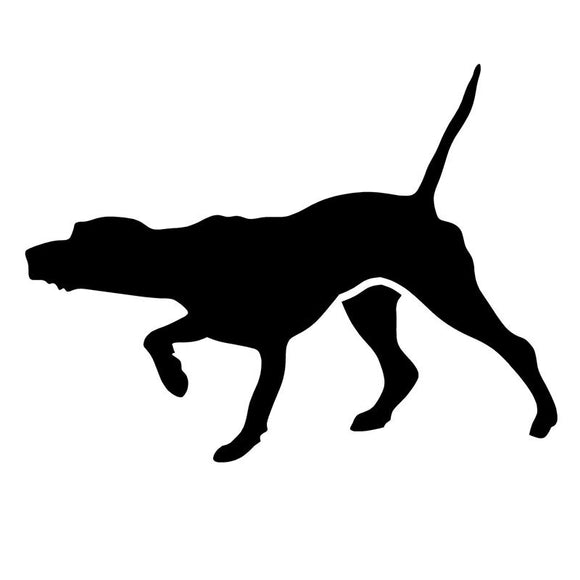 13*9.7CM POINTER DOG Car Sticker Decal Cartoon Interesting Motorcycle Accessories Car Styling C2-0387