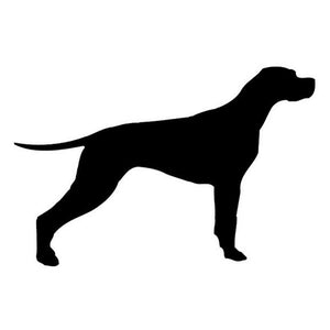 14*10CM LABRADOR DOG Pet Car Sticker Decals Motorcycle Reflective Stickers Car Styling Accessories Black/Silver C2-0307