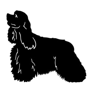 14*12.7CM American Cocker Spaniel Dog Car Stickers Waterproof Vinyl Decal Car Styling Truck Decoration Black/Silver S1-0798