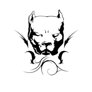 14*14.4CM Pit Bull Dog Car Stickers Personality Vinyl Decal Car Styling Bumper Decoration Black/Silver S1-0718