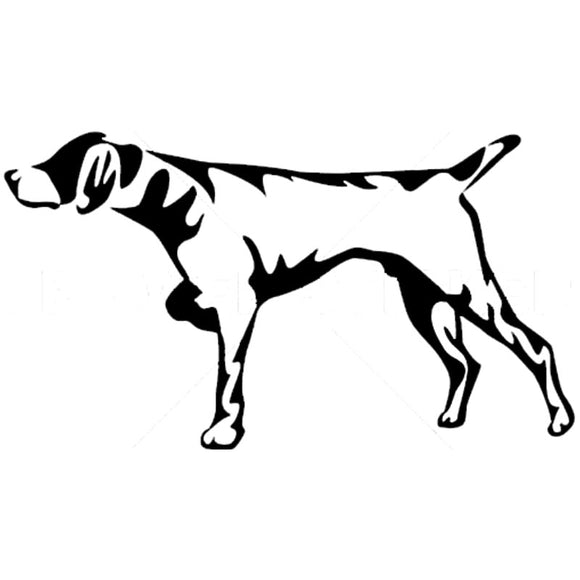14.2*7.9CM Hunting Dog Car Stickers Personality Vinyl Decal Car Styling Bumper Accessories Black/Silver S1-0881