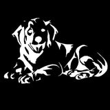 14.2*9.1CM Labrador Dog Car Stickers Lovely Vinyl Decal Car Styling Truck Motorcycle Decoration Black/Silver S1-0908