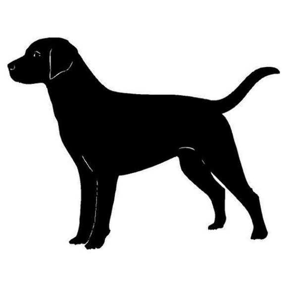 14.3*11.3CM Labrador Dog Car Stickers Reflective Vinyl Decal Car Styling Accessories Decoration Black/Silver S1-0609