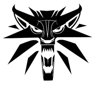 14.3*12.3CM Creative Car Styling Decal The Witcher Wolf Medallion Vinyl Car Stickers Black/Silver S1-2265