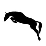 14*5.9CM HORSE Jumping Equestrian Cartoon Car Stickers Motorcycle Decals Car Styling Black/Silver C2-0187