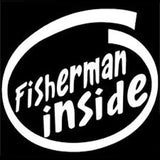 14.5CM*16CM Fisherman Inside Vinyl Decal Car Sticker Fishing Fish Hunting Bass Car Styling Accessories Black/Sliver C8-0122