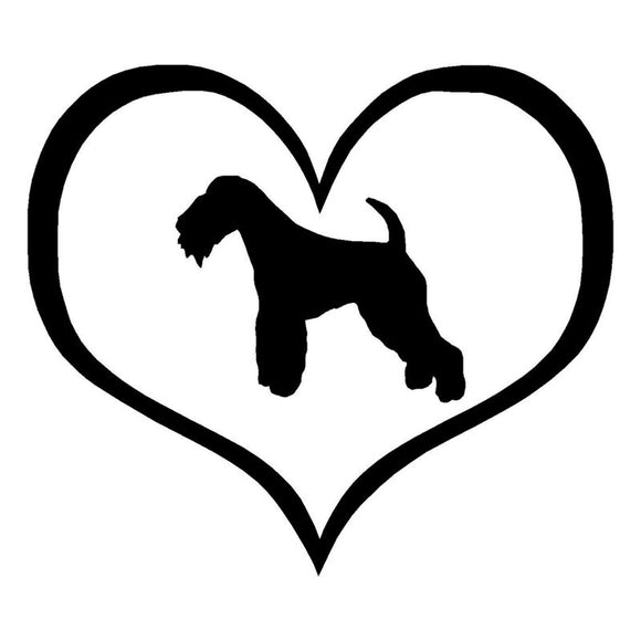 14.6*12.7CM Lakeland Terrier Dog Vinyl Decal Personality Reflective Car Stickers Car Styling Decoration Black/Silver S1-0431
