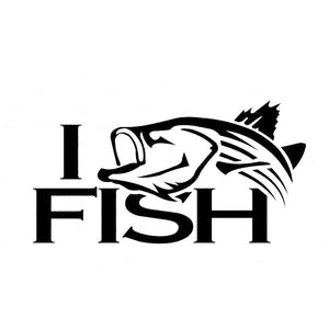 14.7CM*7.6CM Striper Striped Bass Fishing I Fish Car Stickers Vinyl Decal Sticker Car Acessories Decoration Black Sliver C8-0634