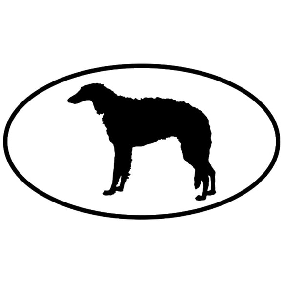 14.8*8.2CM Borzoi Dog Car Stickers Personality Vinyl Decal Car Styling Bumper Decoration Black/Silver S1-0691