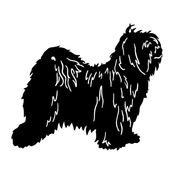 15*12.6CM Tibetan Terrier Dog Car Stickers Reflective Vinyl Decal Car Styling Truck Decoration Black/Silver S1-0851