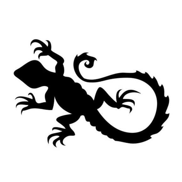15.2*10.5CM Lizard Design Vivid Mischief Car Styling Crazy Animal Decals Vinyl Car Stickers Black/Silver S1-2823