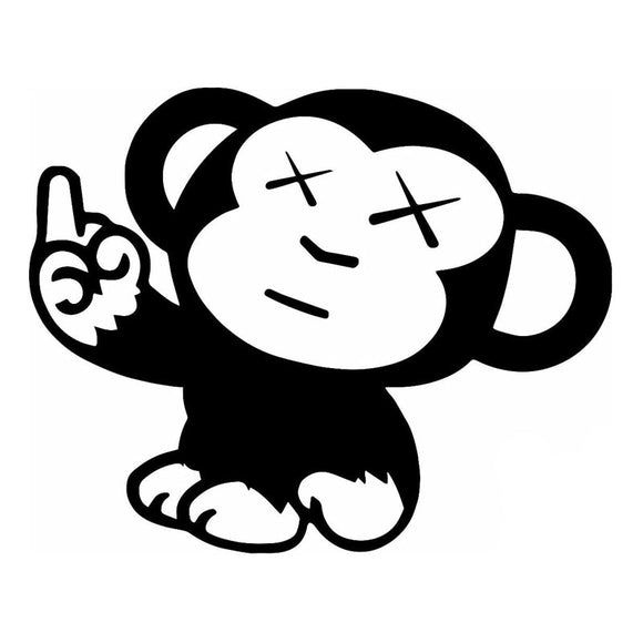 15.2*12.1CM Naughty Monkey JDM Car Styling Cool Vinyl Decorative Decal Car Sticker Black/Silver S1-2865