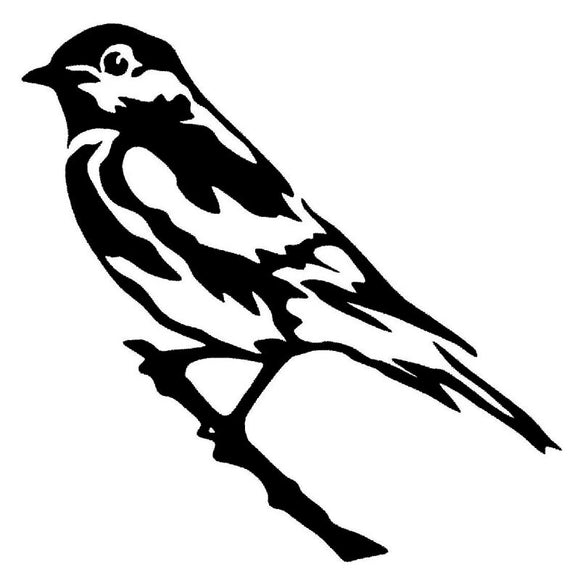 15.2*15.2CM Sparrow Pattern Decal Creative Vinyl Car Sticker Funny Animal Car Styling Black/Silver S1-2393