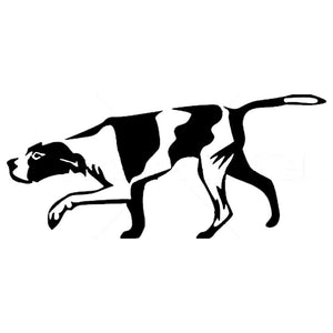 15.2*6.8CM Hunting Dog Car Stickers Reflective Vinyl Decal Car Styling Bumper Accessories Black/Silver S1-0879