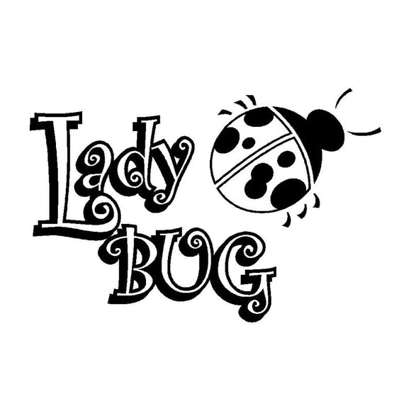 15.2CM*10.1CM Ladybug Unique Vinyl Graphic Decal Car Window Sticker Fun Car Stickers Styling Accessories Black Sliver C8-0945