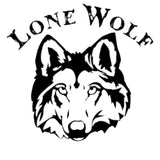 15.2CM*14.2CM Lone Wolf Head Car Or Truck Vinyl Decals Car Stickers Car Styling Accessories Black Sliver C8-1267