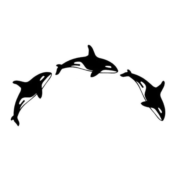 15.3*8CM ORCINUS ORCA Decorative Car Stickers Motorcycle Decals Car Accessories Black/Silver C2-0128