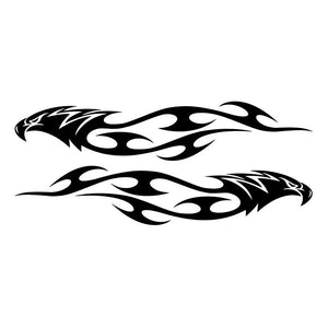 15*3CM Pair Eagle Flames Tribal Car Sticker Personalized Motorcycle Waterproof Stickers Car Styling Accessories C2-0417