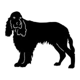 15.5*12.7CM English Springer Spaniel Dog Car Stickers Cute Vinyl Decal Car Styling Bumper Accessories Black/Silver S1-0813