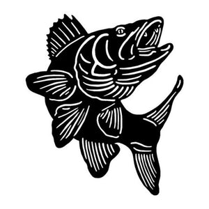 15.5*17.8CM Walleye Fishing Fun Car Stickers Reflective Decals Motorcycle Accessories C2-0566